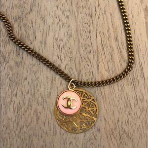 Vintage a Chanel button necklace